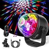 Luces Discoteca, Gritin Activadas por Sonido Bola Discoteca de Luces de Fiesta -15 Colores RGBP Cambio con Control Remoto, con 4M USB Cable Ideal para Cumpleaño, Discoteca, Fiesta