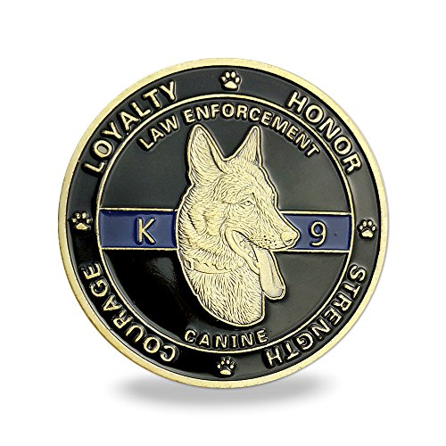 K9 Dog Law Enforcement Challenge Coin Canine Police Decoration