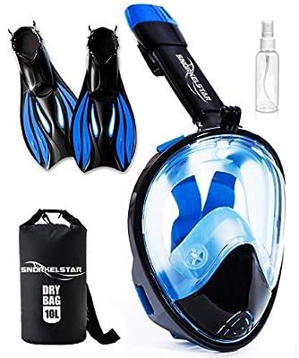 SNORKELSTAR Snorkel Mask Set (Mask S/M Fins M)