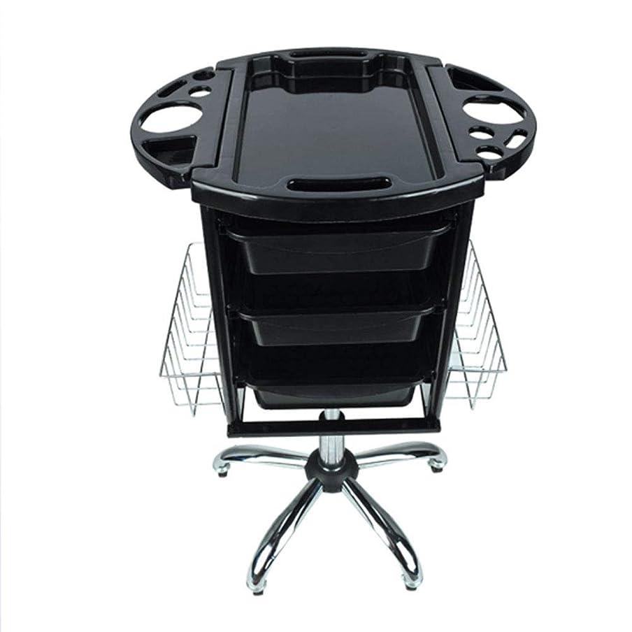 可決中間長椅子レトロサロン美容院トロリー理容美容収納ヘアローラーカートサロントレイ4引き出し引き出しは上の複数の収納穴です,A