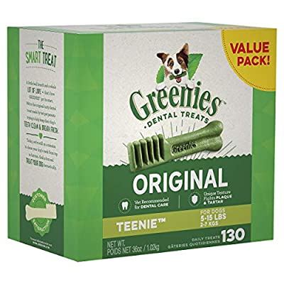 GREENIES Original TEENIE Natural Dental Dog Treats, 36 oz. Pack (130 Treats) from Greenies