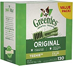 GREENIES Original TEENIE Natural Dental Dog Treats, 36 oz. Pack (130 Treats)