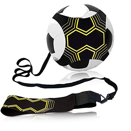 Fußball Kick Trainer Solo Kinder Fußballtrainer Freihändiger Fußballtraining mit Verstellbarem Taillengürtel Universal Größe Ball 3, 4, 5