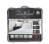 Dreamland Protector de colchón, calefacción, acolchado, algodón, cama individual. [único]