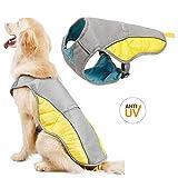 Topone Chaleco de enfriamiento para perros al aire libre, chaqueta reflectante de seguridad a prueba de sol, para perros pequeños, medianos y grandes