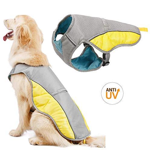 Topone Chaleco de refrigeración para perro arnés al aire libre para cachorros, chamarra reflectante de seguridad a prueba del sol, abrigo de caza, lo mejor para perros pequeños, medianos y grandes