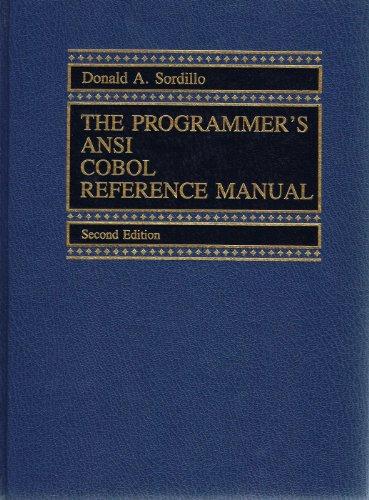 The Programmer's ANSI Cobol Reference Manual