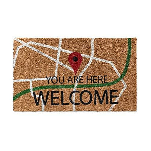 &tapis de salon Tapis de porte Tapis de barrière , Boue de raclage de poussière de fibre de fibre de coco , Tapis de tapis de jardin pour porte d'entrée - Plusieurs tailles couvertures