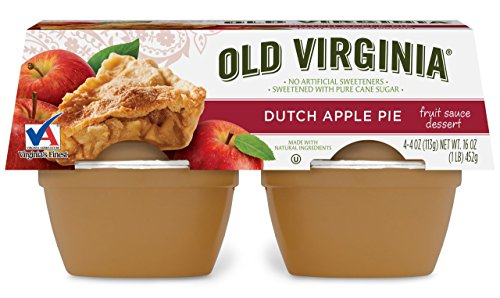 Old Virginia Fruit Sauce dessert, Dutch Apple Pie, 4 Ounce (Pack of 48)