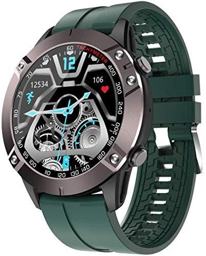 Reloj impermeable para hombre y mujer, monitor de actividad multifuncional, para deportes al aire libre, adecuado para teléfonos Android de gama alta y teléfonos iOS, verde