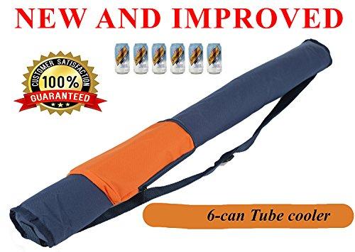 Mnm-home isotherme de transport facile 6 Peut Tube/Sleeve Cooler, avec bandoulière. Orange