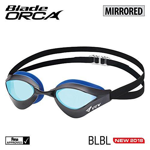 VIEW Blade Orca Gespiegelte Schwimmbrillen - Schwarz/Blau