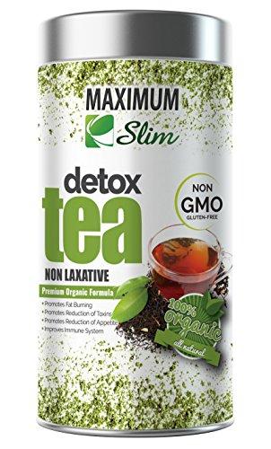 Maximum Slim Detox Tea- Best Premium Slimming Tea on Amazon - Boosts Metabolism, Reduces Bloating and Improves Complexion - 100% Natural, Delicious Taste