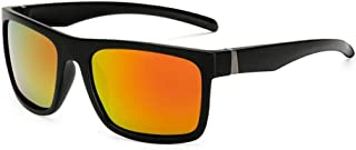 SGJFZD Men's Sports Polarized Sunglasses Men's Outdoor Riding Glasses Windshield Sunglasses UV400 (Color : Orange)