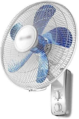 Ventilador de enfriamiento de ventilador de refrigeración de ventilador de ventilador de pared oscilante interior, ventilador de refrigeración oscilante de 3 velocidades 90 ° con y temporizador para l