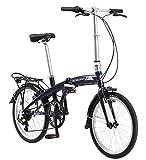 Schwinn Adapt 1 Folding Bike, 20-Inch Wheels, 7-Speed, Gloss Navy