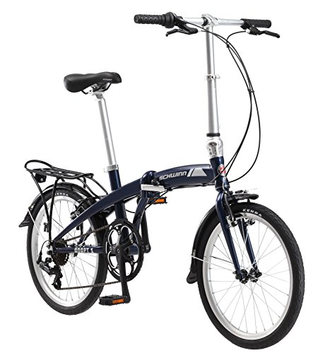 Schwinn Adapt 1 Folding Bike, 20-Inch Wheels, 7-Speed, Gloss Navy
