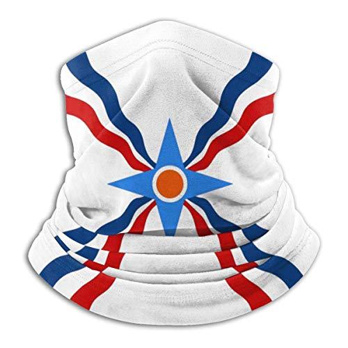 Assyrian Flag Thin Yellow Line Flag Gesichtsmaske Multifunktionstuch Damen Herren Elastische Halstuch Nahtlose Sturmhaube Sturmmaske Schlauchtuch für Yoga Laufen Wandern Radfahren Motorradfahren