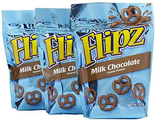 Flipz Milk Chocolate Covered Pretzels 5 Oz  3 Pack