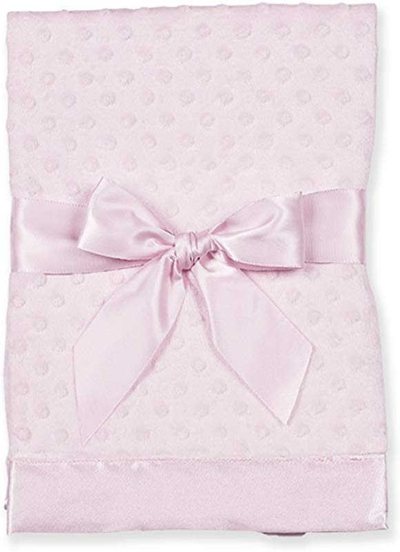 Bearington Baby Small Dottie Security Blankie Pink 16 X 16