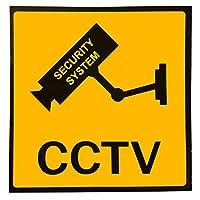ACAMPTAR 3xセットのステッカー 警告ステッカー カメラ/ビデオ監視サイン 100x100mm