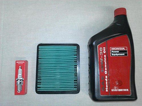 Honda EU3000 Generator Tune-Up Kit, (1) 08207-10w30 Quart Oil, (1) 98079-55846 Spark Plug & (1) 17211-ZS9-A02 Air Filter