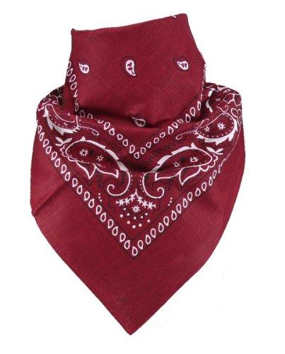 Harrys-Collection Unisex Bandana Bindetuch 100% Baumwolle (1 er 6 er oder 12 er Pack), Farbe:weinrot
