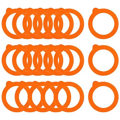 Gitua 20 Stück Ersatz Gummi Einmachgläser, Wiederverwendbare Silikon Dichtungen für Normale Einmachgläser 0,35/0,5/1/1,5/2 Liter