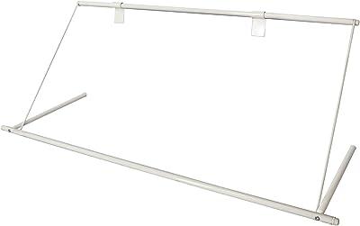 平安伸銅工業 物干しラック ホワイト サイズ(約):幅109×高40×奥行36cm / 本体重量(約):1kg エアコンハンガー ACH-1A