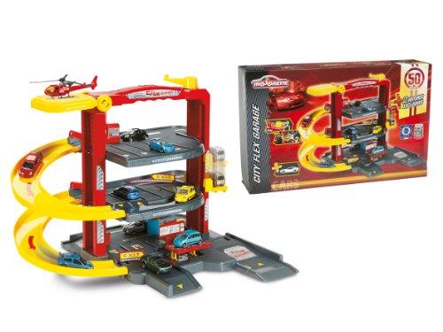 Smoby Majorette - 212055052 - Véhicule Miniature - Garage - Majorette City Flex + 2 Voitures - 50 Ans