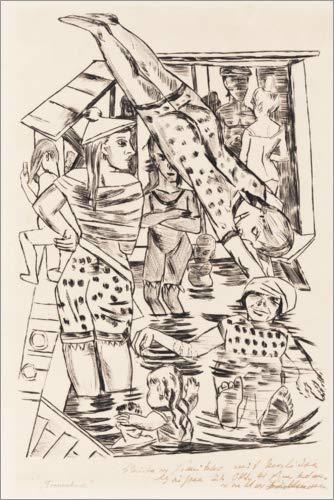 Posterlounge Acrylglasbild 40 x 60 cm: Frauen beim Baden von Max Beckmann - Wandbild, Acryl Glasbild, Druck auf Acryl Glas Bild