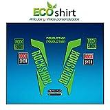 Ecoshirt R3-6JTT-BAXO Pegatinas Horquilla Fork Rockshox Revelation 2016 Am38 Stickers Aufkleber Decals Adesivi Bike BTT MTB Cycle, Verde 26' y 27.5'