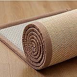 AMSXNOO Alfombra De Bambú, Rectangular Impermeable Tejidas A Mano Fibra Natural, Alfombra Tejida De Bambú para Pasillos Dormitorios Cocinas Exterior (Size : 1.8X0.6M)