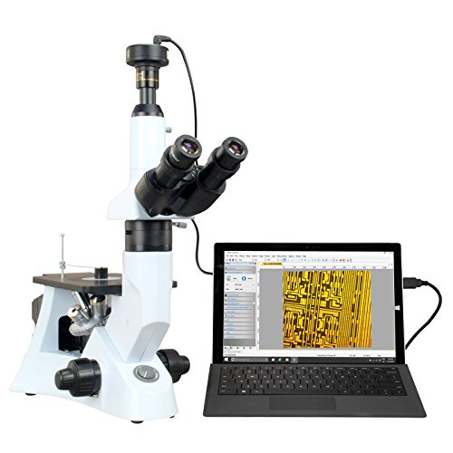 OMAX Inverted Infinity Metallurgical Microscope 40X-400X with 9.0MP USB Camera