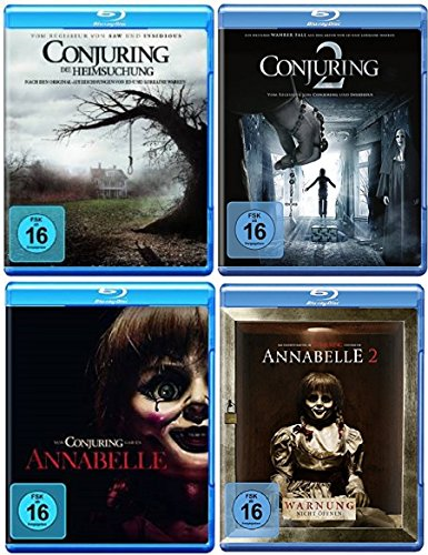 Conjuring Teil 1+2 + Annabelle Teil 1+2 [Blu-ray Set]