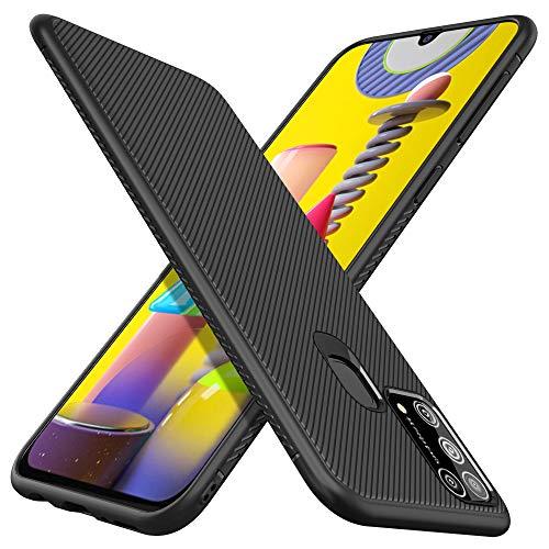 iBetter für Samsung Galaxy M31 Hülle, Thin Silikon hülle Abdeckung Telefon Case Stoßfest Case Handyhülle Schutzhülle Shock Absorption Backcover passt für Samsung Galaxy M31 Smartphone,Schwarz