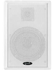 Dynavox WS-502 Flatpanel Speaker, paar, ultraplatte 2-weg wandluidspreker, surround-box voor thuisbioscoop, wit