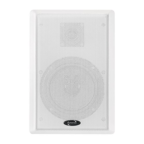 Dynavox WS-502 Flatpanel Speaker,Paar, ultraflache 2-Wege Wandlautsprecher, Surround-Box für Heimkino, Weiss