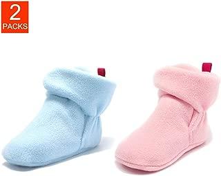 Baby Booties Cozy Fleece Non Skid Sock Shoe