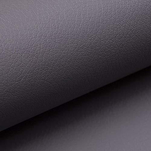 NOVELY® Soltau | 1 lfm | weiches Kunstleder PU Premium Qualität Polsterstoff mehr als 100.000 Touren Echtleder-Optik Möbelstoff (29 Grau)