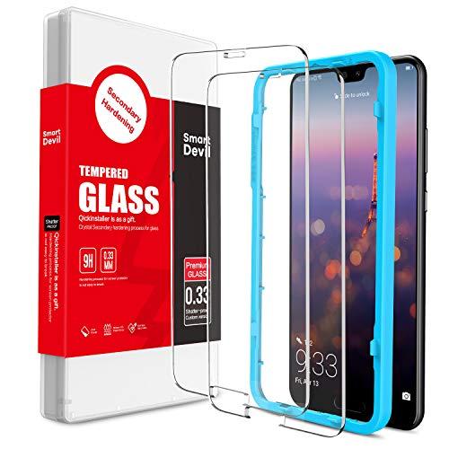 SmartDevil [2 Pack] Protector Pantalla de Huawei P20 Pro,Cristal Templado Huawei P20 Pro,Vidrio Templado [Fácil de Instalar] [Alta Definicion] [Garantía de por Vida] para Huawei P20 Pro
