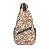 BLUBLU Crossbody Sling Backpack Sling Bag Travel Hiking Chest Bag Daypack Paisley