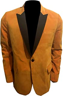 Kingsman Unwin Gary The Golden Circle Orange Velvet Jacket