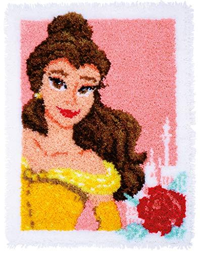 Vervaco WD Knüpfteppich Verzauberte Schönheit Knüpfpackung zum Selbstknüpfen eines Teppichs, Stramin, weiß, 50 x 64 x 0,30 cm