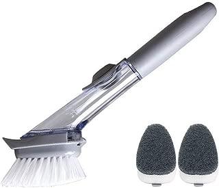 Povinmos Long Handle Pot Brush Dish Bowl Washing Cleaning Brush Soap Dispenser Kitchen Sink Scrubber Automatic Sponge Dishwasher Brush