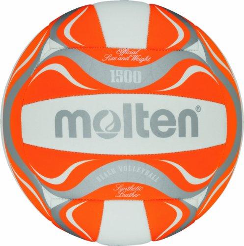 Molten - BV1500-OR, Pallone da beach volley, colore: Bianco/Arancione/Argento