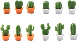 TOOGOO 12 Pcs Cute Cactus Refrigerator Magnets,Decorative Fridge Magnet Locker Magnet,Dry Erase Board Magnet,Perfect Fridg...