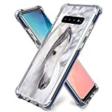 for Samsung S10 Plus Case Horse,Gifun [Anti-Slide] and [Drop Protection] Soft TPU Protective Case Cover for Samsung Galaxy S10 Plus/S10+ 2019 Release 6.4- Beautiful Mr Horse