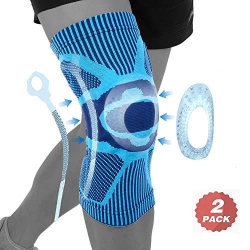 Kniebandage, Knieschoner Knieschützer 2 Pack Sportkniebandage für Laufen Walking Radfahren Fußball Basketball Damen und Herren