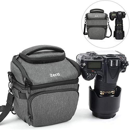 DSLR Kameratasche, Zecti Fototasche Für Spiegelreflexkameras Stoßfest wasserdicht Medium versenkbare Tasche mit Regenschutz für Nikon Canon Sony Kompaktkameras und Objektiv (Aktualisierte Version)